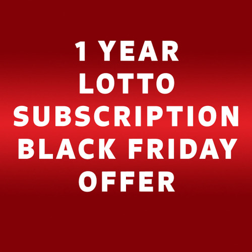 Black Friday Lotto Offer 2 lines for one year subscription