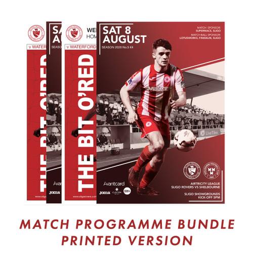 Match Programme Printed Bundle