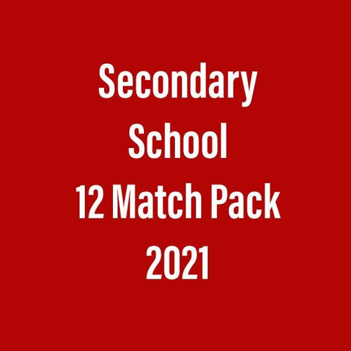 Season Ticket 2021 (12 match package) Secondary School