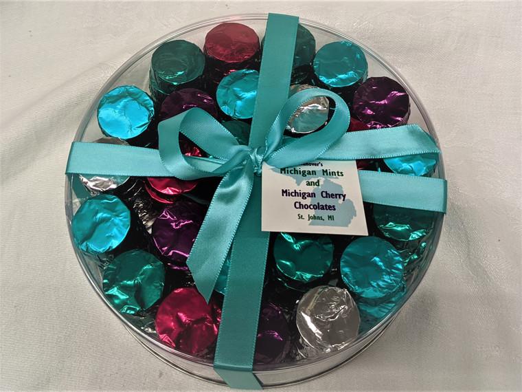 Extra Large Michigan Chocolate  Gift Round