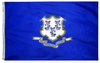 Connecticut - State Flag (finished with heading and grommets)