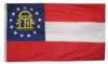 Georgia - State Flag (finished with heading and grommets)