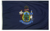 Maine - State Flag (finished with heading and grommets)