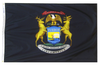 Michigan - State Flag (finished with heading and grommets)