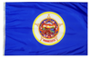 Minnesota - State Flag (finished with heading and grommets)