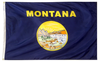 Montana - State Flag (finished with heading and grommets)
