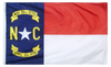 North Carolina - State Flag (finished with heading and grommets)