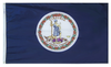 Virginia - State Flag (finished with heading and grommets)