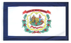 West Virginia - State Flag (finished with heading and grommets)