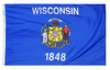 Wisconsin - State Flag (finished with heading and grommets)