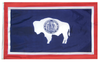 Wyoming - State Flag (finished with heading and grommets)