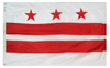District of Columbia - Territory Flag (finished with heading and grommets)