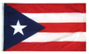 Puerto Rico - Territory Flag (finished with heading and grommets)