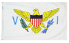 U.S. Virgin Islands - Territory Flag (finished with heading and grommets)