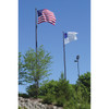 Two Vanguard Flagpoles in Black - 30' / 25' Configuration