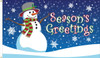 """""""Season's Greetings"""" Holiday Flag  - Nylon Material Finished with a Sturdy Fabric Heading and Grommets"""