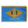 Delaware flag with pole sleeve and fringe