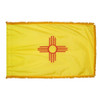 New Mexico flag with pole sleeve and fringe