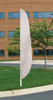 """Flutter Flag in Solid Color - White - 26""""x12' - For Outdoor Use"""