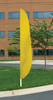 "Flutter Flag in Solid Color - FM Yellow - 26""x12' - For Outdoor Use"