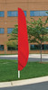 """Flutter Flag in Solid Color - Canada Red - 26""""x12' - For Outdoor Use"""