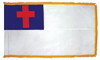 Christian Flag with Fringe - For Indoor Use