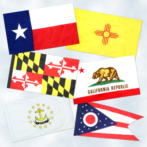 50 State Flag Complete Set - Pole Sleeve