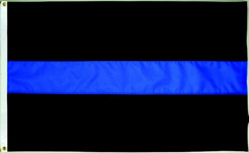 Thin Blue Line Flag - 3'x5' - For Outdoor Use