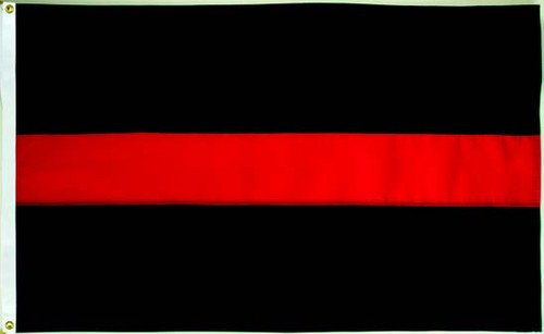 Thin Red Line Flag - 3'x5' - For Outdoor Use