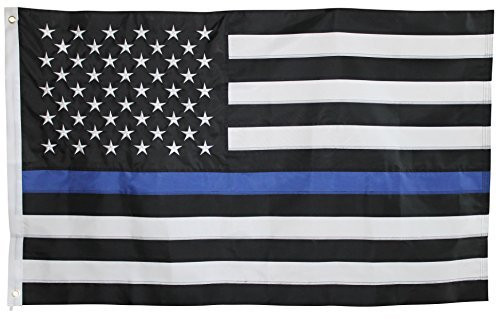 Thin Blue Line American Flag - 3'x5' - For Outdoor Use