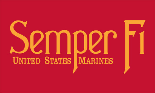 Marine Corps Semper Fi Flag (Heading and Grommet Style)
