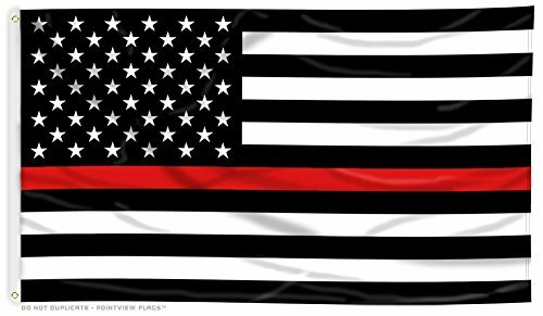 Thin Red Line American Flag - 3'x5' - For Outdoor Use