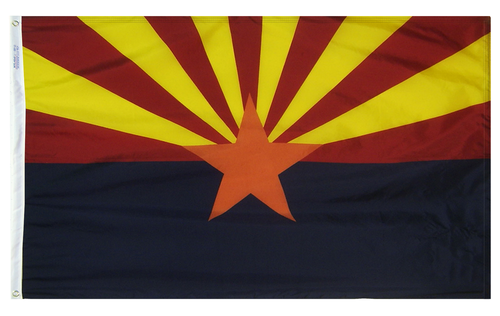 Arizona - State Flag (finished with heading and grommets)