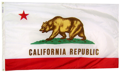 California - State Flag (finished with heading and grommets)