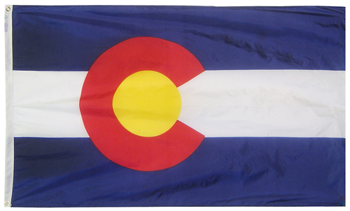 Colorado - State Flag (finished with heading and grommets)