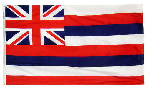Hawaii - State Flag (finished with heading and grommets)