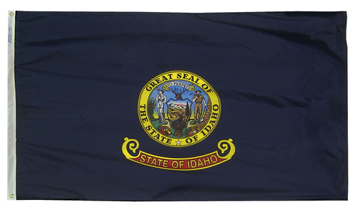 Idaho - State Flag (finished with heading and grommets)