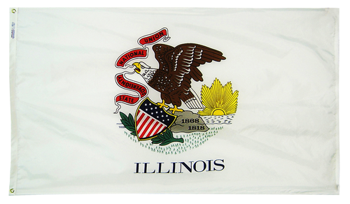 Illinois - State Flag (finished with heading and grommets)