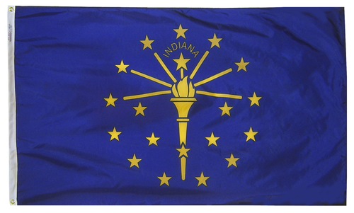 Indiana - State Flag (finished with heading and grommets)
