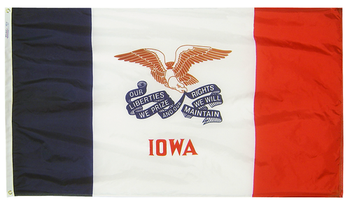 Iowa - State Flag (finished with heading and grommets)