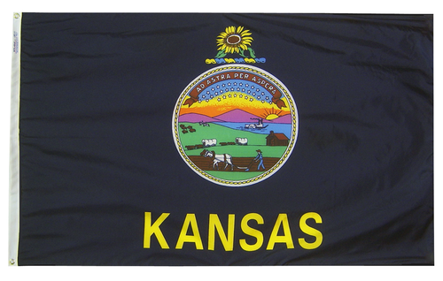 Kansas - State Flag (finished with heading and grommets)