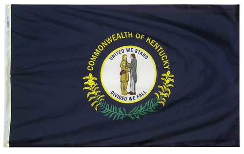 Kentucky - State Flag (finished with heading and grommets)
