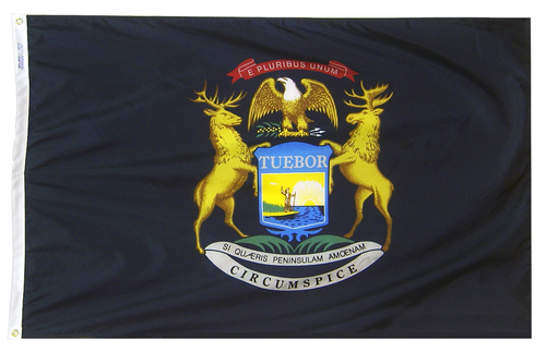 Michigan - State Flag - For Outdoor Use