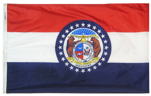 Missouri - State Flag (finished with heading and grommets)