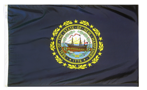 New Hampshire - State Flag (finished with heading and grommets)