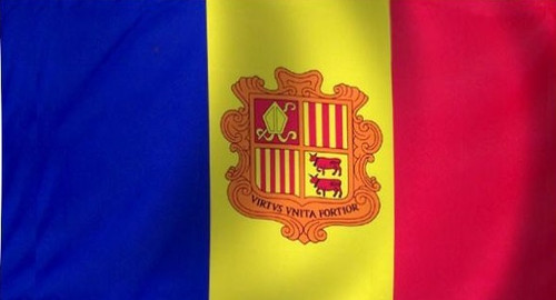 Andorra - Flag with Pole Sleeve