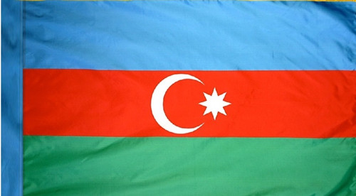 Azerbaijan - Flag with Pole Sleeve