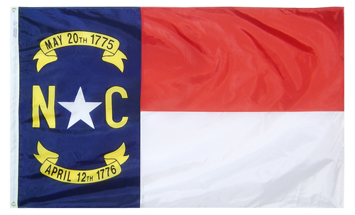 North Carolina - State Flag - For Outdoor Use