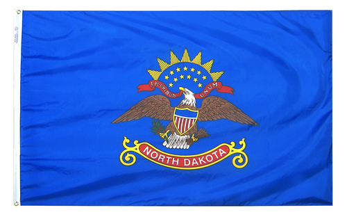 North Dakota - State Flag (finished with heading and grommets)