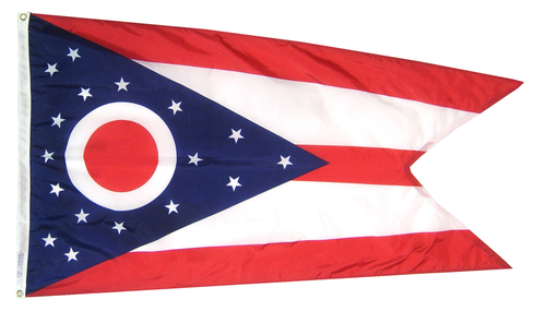 Ohio - State Flag (finished with heading and grommets)